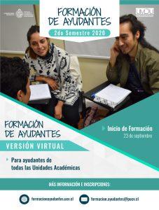 Formación de Ayudantes Virtual – Cupos Disponibles