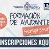 """Comienza inscripción para """"Formación de Ayudantes Segundo Semestre 2018"""""""